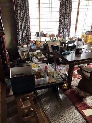 持家を不動産売却にともなう遺品整理の施工前