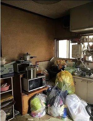 【2DK+庭】一軒家での事例【162,000円】の施工前