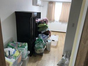 病室の福祉清掃の施工前