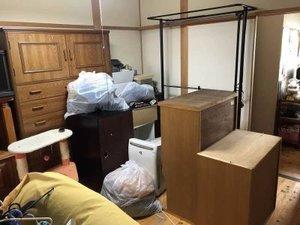 使わなくなった家具メインの遺品整理の施工前