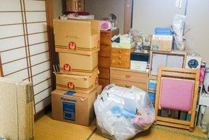 北葛飾郡杉戸町でのワンルームの遺品整理:81,000円の施工前