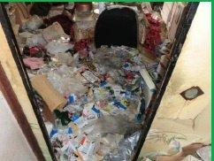 【2LDK】アパートでのゴミ屋敷清掃の施工前
