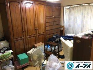 遺品整理にともなう家財丸ごと搬出の施工前