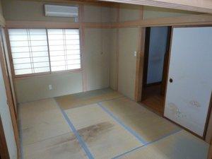 居室の作業の様子です。の施工後