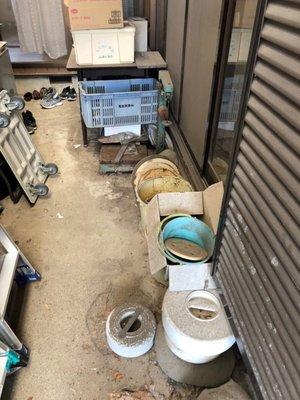 残置撤去作業の施工前