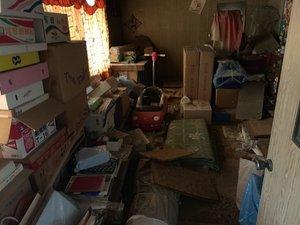 三重県いなべ市にて空き家の片付けの施工前