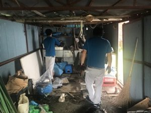 当麻町にて孤独死現場の特殊清掃・遺品整理つづき2の施工前