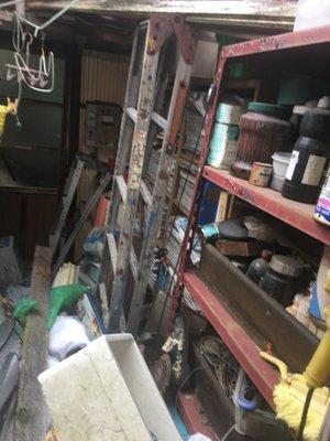 岡山市北区下伊福 遺品整理。不動産会社様からのご紹介(7LDK外倉庫付き)の施工前