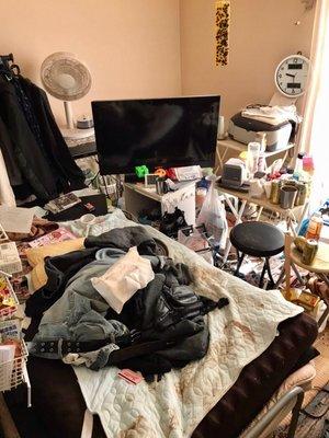 広島県福山市 アパート 孤独死・特殊清掃の施工前