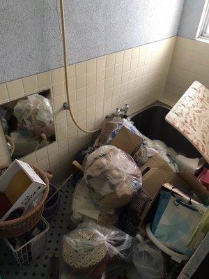 空き家整理 家庭ゴミの回収・処分の施工前
