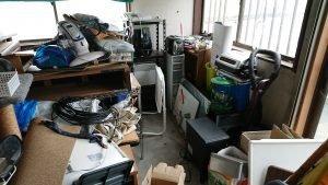 倉庫の遺品整理事例の施工前