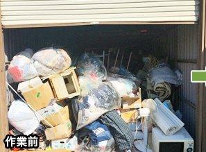 訓子府町・車庫など・12万円の施工前