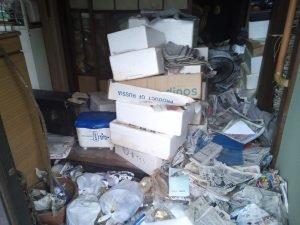 不動産会社様からのゴミ屋敷片付け依頼の施工前