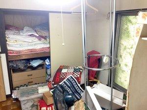 引っ越しによる残置物撤去の施工前
