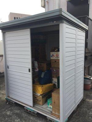 川崎市宮前区での物置の整理の施工前