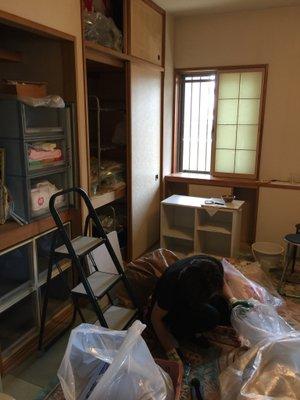 横浜市磯子区での遺品整理の施工前