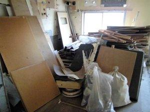 不用品回収後の清掃も丁寧におこないました。の施工前