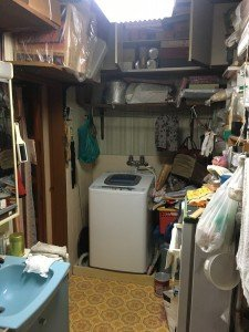 お宅兼オフィスでの大がかりな作業2:洗面所の施工前
