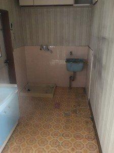 お宅兼オフィスでの大がかりな作業2:洗面所の施工後