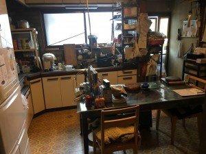 お宅兼オフィスでの大がかりな作業:キッチンの施工前