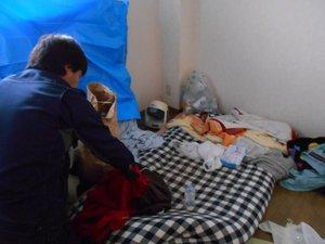 2DKマンション事例/遺品整理・特殊清掃の施工前
