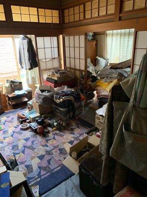 貸家(平屋3LDK物置有)の生前整理作業の場合の施工前