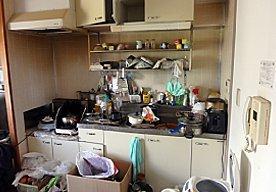 【4DK】孤独死のお部屋の特殊清掃の施工前