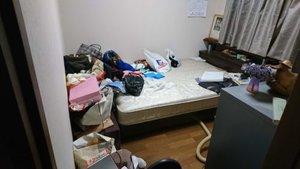 1Rマンションの特殊清掃および遺品整理の施工前