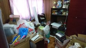 3LDKの一軒家の遺品整理の事例続き2(別室)の施工前