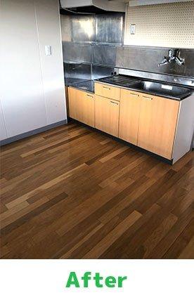 【3DK】キッチンなどの水回りも綺麗にいたします。:250,000円の施工後