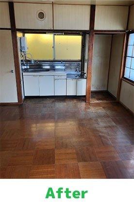 遺品整理作業事例① 6畳2間のアパートの場合の施工後