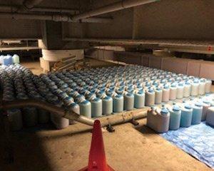 病院内廃液移設作業の施工後