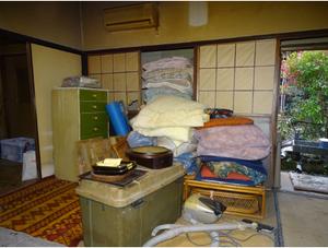 埼玉県蕨市での空き家片付けの施工前