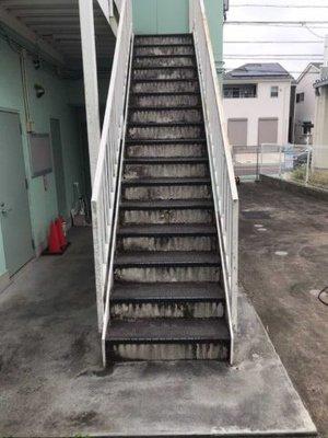 建物の高圧洗浄作業の施工前