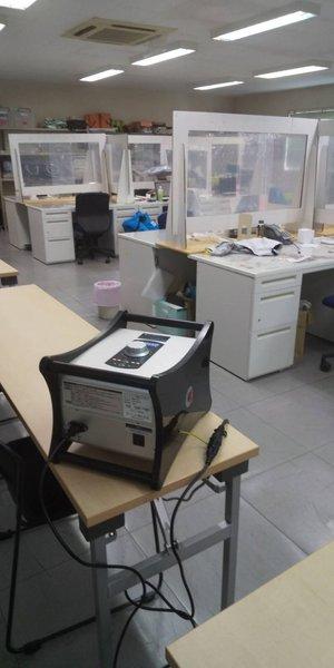 オフィス内でのコロナ除菌作業の施工後