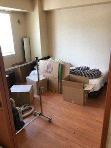 【1LDK】マンション:施設ご入居に伴う家財整理・鍵をお預かりしての作業の施工前