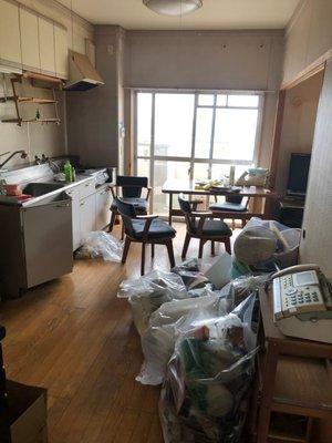 【3DK】マンションの遺品整理:150000円の施工前