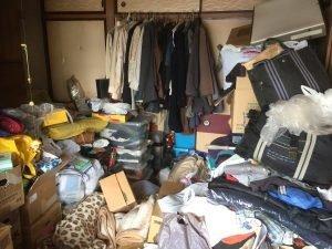 桶川市のご遺品整理:家財が多くて手が付けられない現場でもお任せください。の施工前