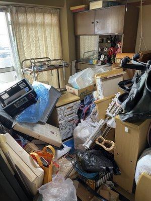 【3LDK】マンションの家財道具の撤去:170,000円の施工前