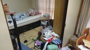 1LDKのアパート(遺品整理)の施工前