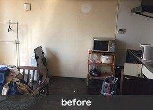 【1R】本や家具家電の買取で費用を抑えます。:33,000円の施工前