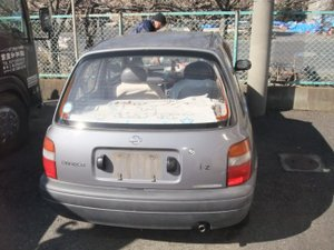 入院されている方の車を片付けさせていただきました。の施工前
