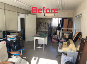 事務所2部屋の遺品整理作業の施工前