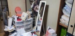 東京都福生市のアパートの遺品整理の施工前