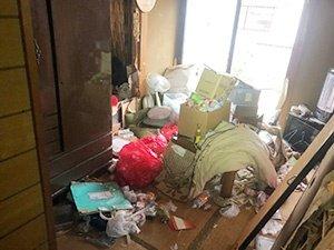 【マンション1階 1LDK】不用品回収の施工前